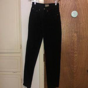 liz claiborne petite black high waist denim jeans